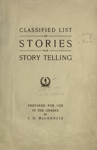 Classified list of stories for story telling by Isbel Orr MacKenzie