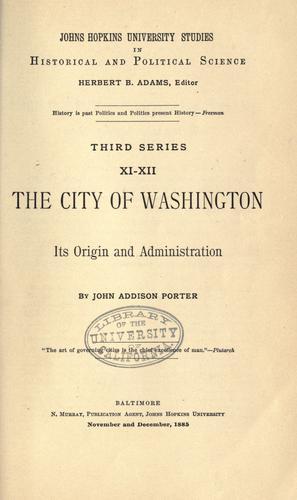 The city of Washington
