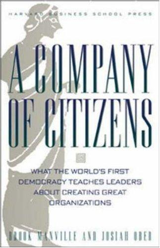 A Company of Citizens by Josiah Ober