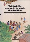 Training in the community for people with disabilities by Einar Helander