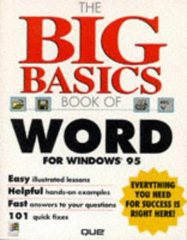 The big basics book of Word for Windows 95 by Sandra E. Eddy