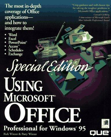 Using Microsoft Office professional for Windows 95 by Rick Winter