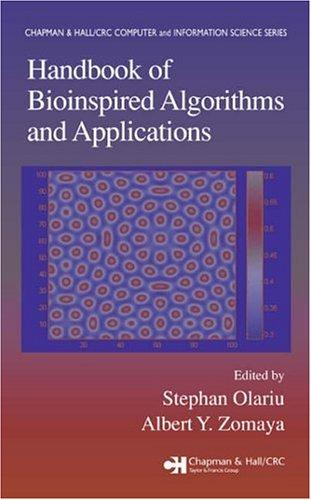 Handbook of bioinspired algorithms and applications by