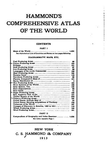 Hammond's Comprehensive Atlas of the World by