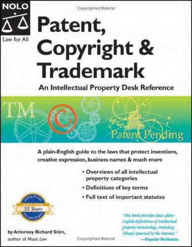 Patent, copyright & trademark by Richard Stim
