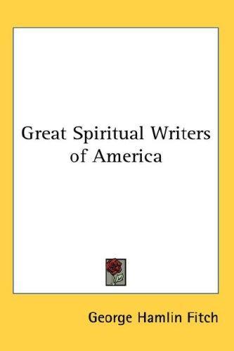 Great Spiritual Writers of America