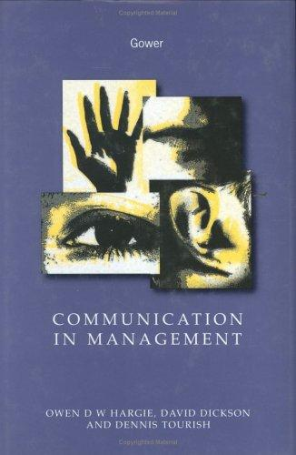 Communication in management by Owen Hargie
