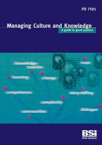 Managing Culture and Knowledge by Neill Allan