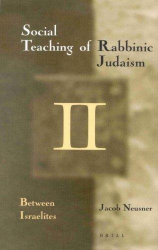 The Social Teaching of Rabbinic Judaism