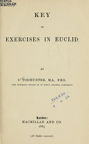 Key to Exercises in Euclid by J. Hamblin Smith