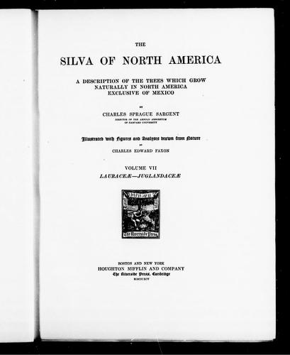 The silva of North America by Sargent, Charles Sprague
