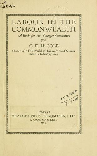 Labour in the commonwealth