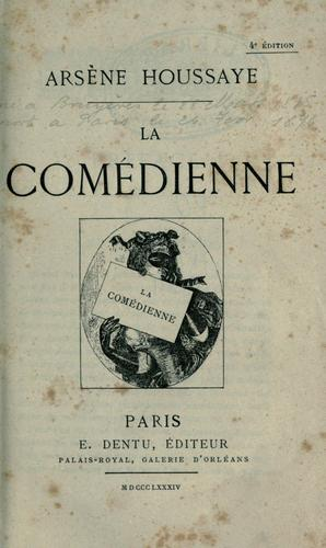 La comédienne by Arsène Houssaye
