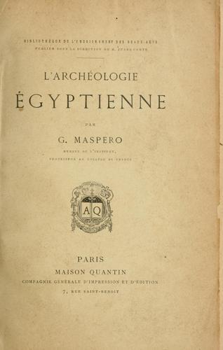 L' archéologie égyptienne