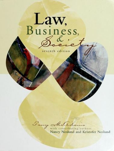 Law, business, and society by Tony McAdams