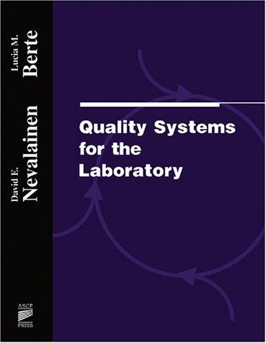 Quality systems for the laboratory by Lucia Berte