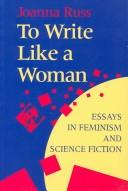 To write like a woman by Joanna Russ